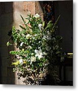 Arrangement Of White Flowers Metal Print
