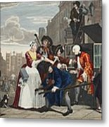 Arrested For Debt, Plate V From A Rakes Metal Print
