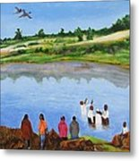 Arrival At The Baptism Metal Print