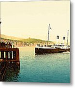 Arrival Of Boulogne Boat Folkestone - England  Metal Print