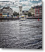 Arriving At The Boardwalk Before The Storm Metal Print