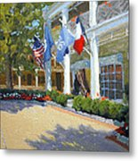 Arriving At The Inn Metal Print