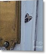 Arrowhead Doorbell Moth Metal Print