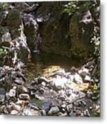 Arroyo With Water Metal Print