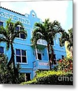 Art Deco Hotel In Miami Beach Metal Print