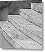 Art Deco Steps In Black And White Metal Print