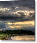 Art For Crohn's Lake Ontario Sun Beams Metal Print by Tim Buisman