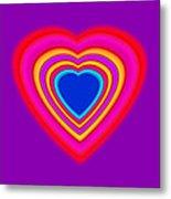 Art Heart Blue Metal Print