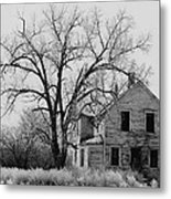 Art Homage Andrew Wyeth Abandoned 1930's Farm House Near Aberdeen South Dakota 1965-2012 Metal Print