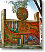 Art In A Cusco Park-peru  Metal Print