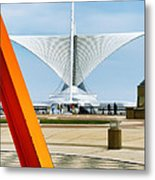 The Milwaukee Art Museum By Santiago Calatrava Metal Print