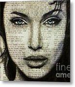 Art In The News 44- Angelina Jolie Metal Print
