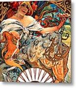 Art Nouveau Biscuit Ad 1897 Metal Print