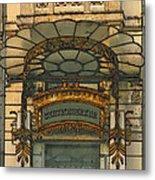 Art Nouveau Doorway In Ljubljana Metal Print