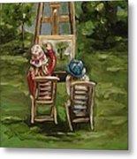 Art Of Teaching Oil Painting Metal Print