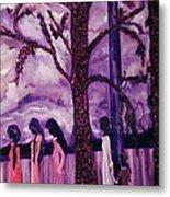 Art Purple Rain Metal Print
