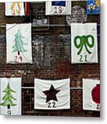 art textures holidays in Old Towne Metal Print