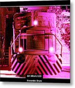 Art Work 123 Locomotive Metal Print
