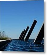 Artesa Winery Sculpture Pond Metal Print