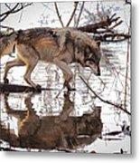 Artful Crossing Metal Print