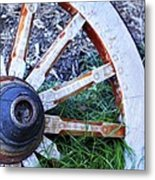 Artful Wagon Wheel Metal Print