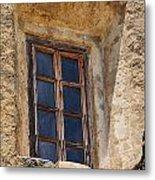 Artful Window At Mission San Jose In San Antonio Missions National Historical Park Metal Print
