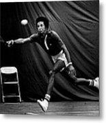 Arthur Ashe Returning Tennis Ball Metal Print