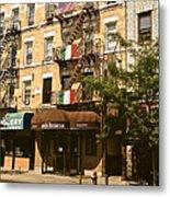 Arthur Avenue In The Bronx Metal Print
