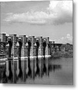 Artisan Lakes Bridge 1bw Metal Print