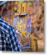 Artist At Work - Zion Metal Print