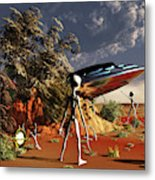 Artist Concept Of The Roswell Incident Metal Print