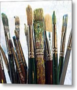 Artist Paintbrushes Metal Print