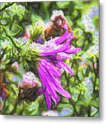 Artistic Aster In First Snow Fall 2 Imp 2-2 Metal Print