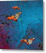 Artistic Butterflies Metal Print