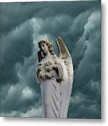 Artistic Creation Of Angel And Dark Metal Print