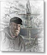 Artistic Digital Image Of An Old Sea Captain Metal Print