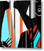 Artistic Fashion Colorful Illustration Metal Print