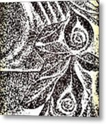 Artistic Hand And Flowers Metal Print