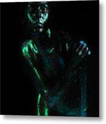 Artistic Nude  Green Skin  Metal Print