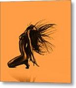 Artistic Nude Orange Metal Print