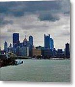 Artistic Pittsburgh Skyline Metal Print