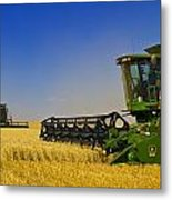Artists Choice Two Combine Harvesters Metal Print