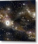 Artists Concept Of A Black Hole Metal Print by Marc Ward