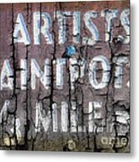 Artists' Paintpots Sign Metal Print