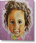Artist's Youngest Daughter Metal Print by Marwan  Khayat