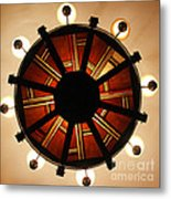 Arts And Crafts Chandelier At Summit Inn Metal Print