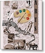 Arts Collage Metal Print