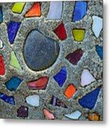 Artsy Glass Chip Sidewalk Metal Print