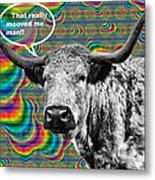 Arty Coo Really Mooved Metal Print by John Farnan
