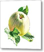 Artz Vitamins Series A Happy Green Apple Metal Print